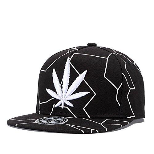 MENGMA Herren Hip Hop-Baseball-Mütze Weed-Hut-Kappe Hysteresen-Straße einheitsgröße Mehrfarbig
