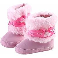 GenialES Baby Girl morbido fondo fiocco neve invernale scarpe stivali