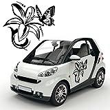 Motif sarments avec papillons autotattoo floral designs autocollant pour le véhicule kB597/fleurs