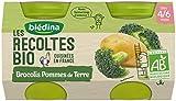 Blédina Pots Brocolis Pommes de Terre Repas Légumes 260g