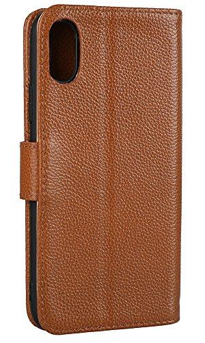 Hülle iPhone 8,VENTER®Handyhülle iPhone 8 Tasche [Schwarz] Leder Flip Case Brieftasche Etui Schutzhülle für iPhone 8 Palme
