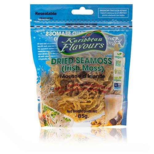 KARIBBEAN FLAVOURS Irish Moss Supernahrungsmittel - (5 Stück) wildcrafted - nicht gvo - vegan - roh 15 Oz