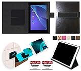 reboon Hülle für Sony Xperia Z2 Tablet Tasche Cover Case Bumper   in Schwarz Leder   Testsieger