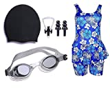 #10: Golden Girl Swimming kit for Girls (Black_9-10 Years)