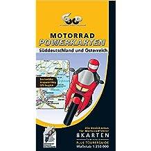 Motorrad Powerkarten Süddeutschland und Österreich 1 : 250 000. Powerbox: Plus Elsass / Vogesen. 8 laminierte Kartenblätter plus Tourerguide. GPS-tauglich (Motorrad Powerkarten 1:250.000)