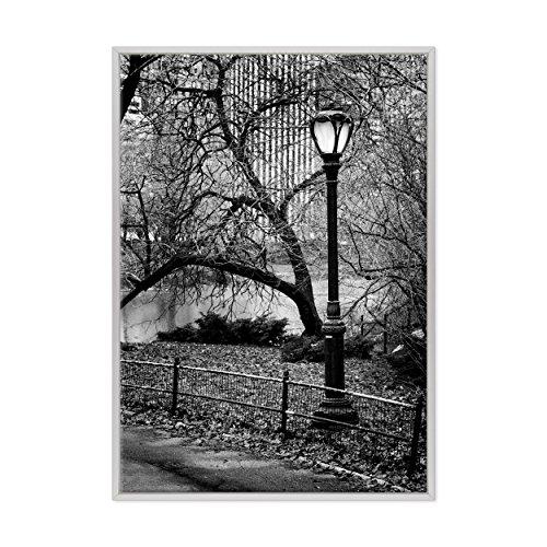 Bild auf Leinwand Canvas-Gerahmt-fertig zum Aufhängen-Central Park-NY NEW YORK USA AMERIKA Dimensione: 70x100cm B - Colore Bianco Moderno