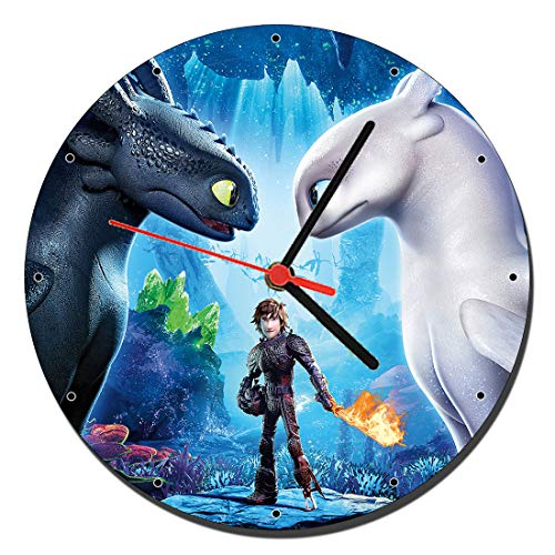 MasTazas como Entrenar A Tu Dragon El Mundo Oculto How to Train Your Dragon The Hidden World Reloj de Pared Wall Clock 20cm