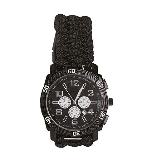 Armbanduhr Paracord schwarz Größe XL