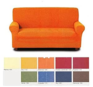 Copridivano 3 posti sofa cover in tessuto bielastico - Divano 4 posti misure ...