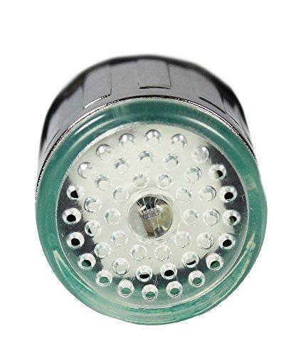 1 X dizauL® bunte LED Wasserhahn Leuchtender LED Licht Wasserhahn mit Temperatursensor Farben(Grün/Rot/Blau),Wasser-Strom-Hahn 3 Farben durch Wasserdruck (bunten LED Wasserhahnfilter) -