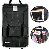 Auto-Organizer Rückenlehnenschutz,HICYCT Auto Rücksitz-Organizer für Kinder, Rücksitz Organizer Kinder - Kick mat mit praktischen Rücksitztaschen