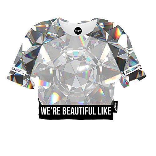 Fringoo Damen T-Shirt mehrfarbig mehrfarbig One size Diamonds - Tee