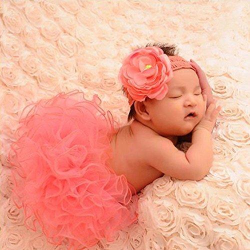 YiZYiF Fotos Fotografie Prop Baby Mädchen Kostüm Süßer Prinzessin Kleid Tüllkleid mit Kopfband Festzug Kleidung (Wassermelonen (Mädchen Wassermelone Kostüme)