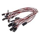 WINOMO 32cm 3-poligen männlichen und weiblichen Fernsteuerung Servo Verlängerungskabel Kabel Kabel - 10 Stk/set