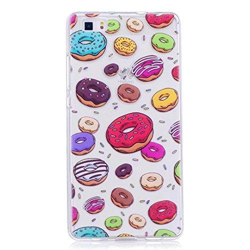 Cover iPhone 6 PLUS Silicone ultra trasparente sottile TPU morbido Custodia Modello di arte cover-panda Donuts