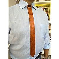 Cravatta in legno naturale pregiato modulare
