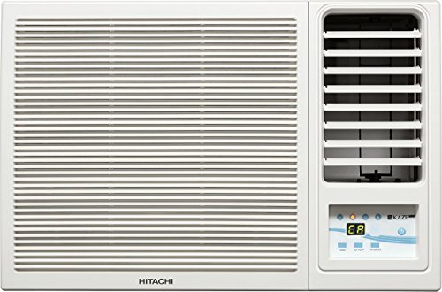 Hitachi 1 Ton 5 Star Window AC  RAW511KUD Kaze Plus, White