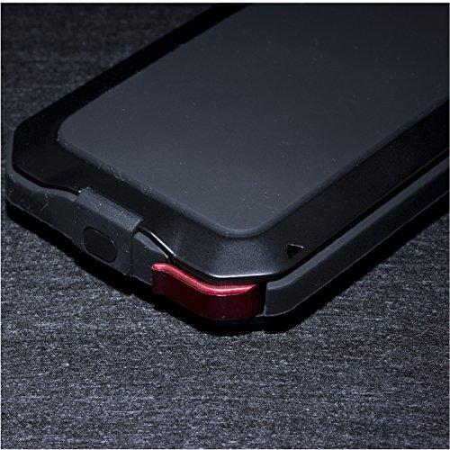 SAVFY® iPhone SE 5 5S 5C Spritzwasserdichte Hülle Metallgehäuse Case Spritzwassergeschützt Schutztasche Handyhülle schwarz