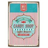 Cuadros Lifestyle Wanddekoration Blechschild - Candy Shop, Größe:ca. 30x45cm