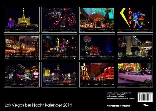 Las Vegas bei Nacht Kalender 2014 DIN A3 (Fremont-street-casino)