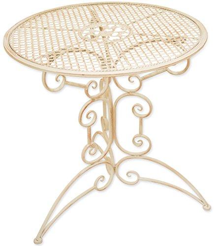 Woodside - Petite table basse - ronde - pour l'extérieur/le jardin - métal