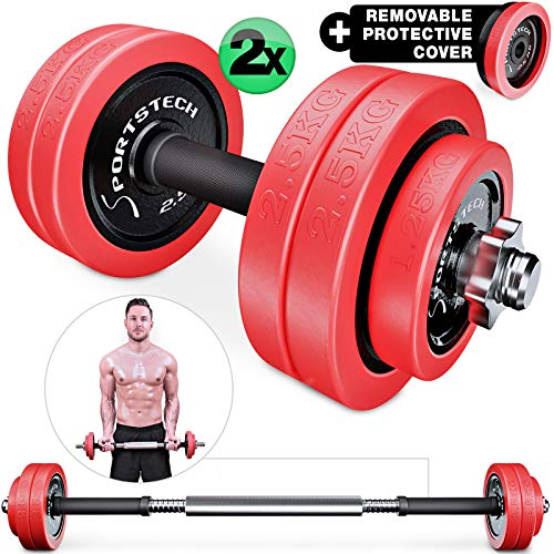 Sportstech-2in1-innovative-dumbbell-set-with-silicone-cover-dumbbells-barbell-in-one-dumbbells-in-20kg-30kg-from-cast-iron-effective-fitness-strength-training-dumbbell-for-your-home