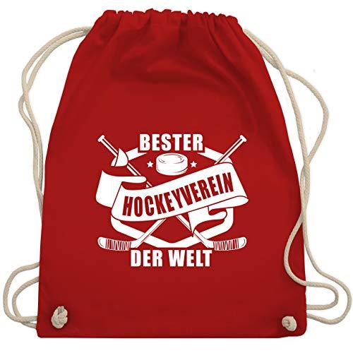 Eishockey - Bester Hockey Verein der Welt Banner - Unisize - Rot - WM110 - Turnbeutel & Gym Bag