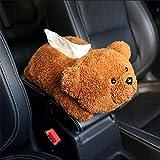 Brown Bambola Orso Creativo Auto Bracciolo Scatola Cartone Cartone Cartone Cartone Multi-Funzionale Carino Auto Carta Asciugamano Coperta