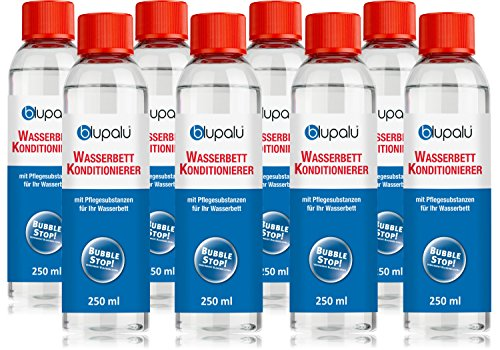 blupalu 8 x 250 ml Wasserbett Conditionierer Set | Conditioner | Konditionierer | Wasserbett-Zubehör | für Alle Wasserbetten (Suma Nova)