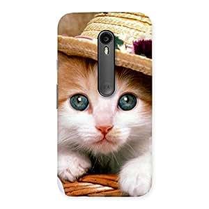 Innocent Cat Hat Back Case Cover for Moto G Turbo