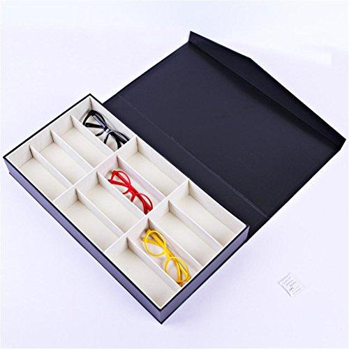 MUXIA 12-Bit-Gläser Aufbewahrungsbox/Sonnenbrille Display Box/Sonnenbrille Speicher Display Box/Leder Schal, Mädchen Perfektes Geschenk Schal-display