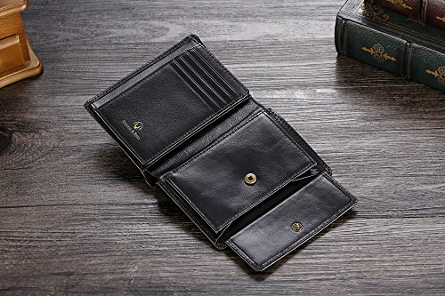 51CatGdCXnL - Cronus & Rhea® | Luxury wallet with coin pocket made of exclusive leather (Charon) | Wallet - Wallet - Wallet - Money Clip | Real leather | With elegant gift box | Men
