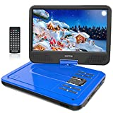 WONNIE 10.5 Inch Portable DVD Player for Kids (Blue 10.5 inch)