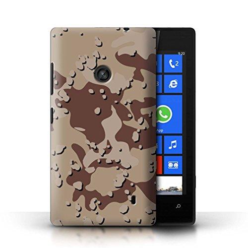 Stuff4® Hülle/Case für Nokia Lumia 520 / Wüste/Schokoladenstückchen Muster/Militär Camouflage Tarnung Kollektion