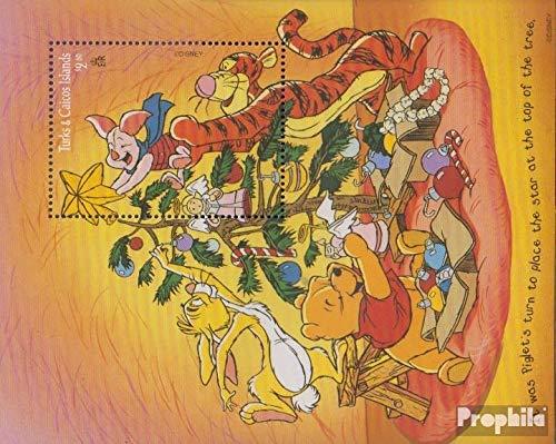 Prophila Collection Turks- und Caicos-Inseln Block166 (kompl.Ausg.) 1996 Walt Disn.s Winnie The Pooh (Briefmarken für Sammler) Comics (Winnie The Pooh Sammler)