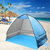 Anpress Waterproof Outdoor Automatic Pop up Beach Tent Portable Cabana Anti UV 50+ Canopy Sun & Beach u0026 Sun Shelters: Sports u0026 Outdoors: Amazon.co.uk