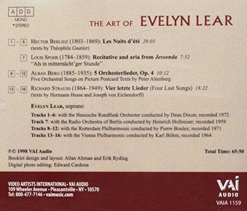 Art of Evelyn Lear - Spohr, Strauss, Berlioz, Berg