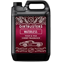 Dirtbusters Cherry - Producto para lavado y encerado de coches sin agua y dos paños de microfibra (5 L, pulverizador y repuestos, cera polimérica para una limpieza profesional sin marcas), aroma a cereza