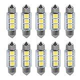 Keenso 12 V 36 MM Auto LED Glühbirnen Festoon Dome für Auto Innenleuchten Dome Lampe Trunk Nummernschild Armaturenbrett Parkplatz Camper Lichter