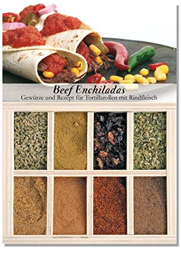Feuer & Glas - 8 verschiedene Gewürze für Beef Enchiladas (45g) Glas-sauce-gerichte