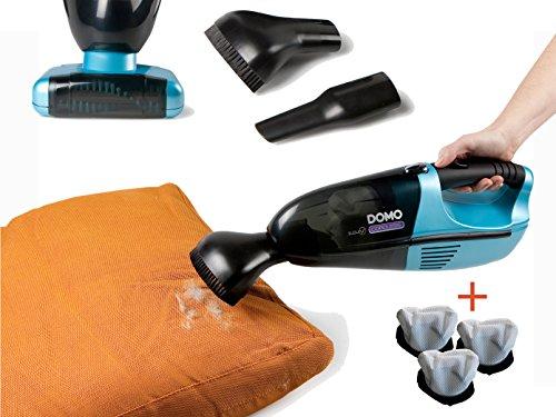 DOMO Handstaubsauger mit rotierender Bürste gegen Tierhaare inkl. Ersatzfilter, DO211S