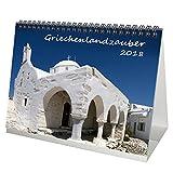 Premium Tischkalender / Kalender 2018 · DIN A5 · Griechenlandzauber · Griechenland · Urlaub · Meer · Edition Seelenzauber -
