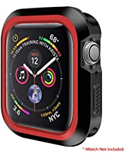 AirCase Bumper Armour Protective Case Guard for Apple Watch Series 4, 44mm (Red)