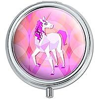 Geometrische Einhorn pink Fantasy Pille Fall Schmuckkästchen Geschenk-Box preisvergleich bei billige-tabletten.eu