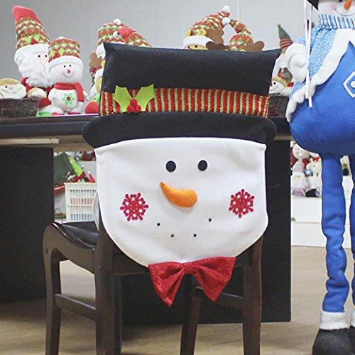 smileq Santa Claus Dekoration Schneemann Sitzbezug Hotel Restaurant für Cover, Ornament schwarz
