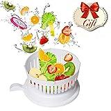 Salad Bowl Cutter - Magic Insalata Caffè - Chop Verdure Fresche e Frutta in 60 Secondi - Godetevi una Nutriente e Deliziosa Insalata - Un Arcobaleno Tazze di misurazione Impostare Libero come Regalo