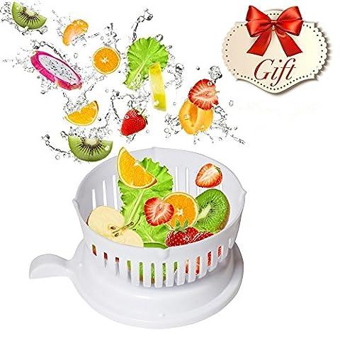 Salad Cutter Bowl - Magic Salad Maker - Chop Les Légumes Frais et les Fruits en 60 Secondes - Profitez d