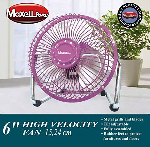 """Maxell Power CE Ventilador DE SOBREMESA Mini ASPAS Parrilla Metal 6\"""" 20W Garantia MP-3689 (Rosa)"""