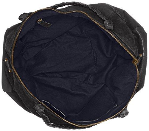 Pieces Pccameo Leather Bag, Sacs portés épaule Noir (Black)