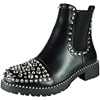 Women Studded Boots | Gothic Boots | Chelsea Boots | Studded Ankle Boots | Pull On Boots | Ankle Black Boots | Chelsea Boots Women | Guess Ankle Boots Women | Studded Ankle Boots Women